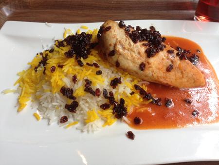 Kyckling på persiskt vis