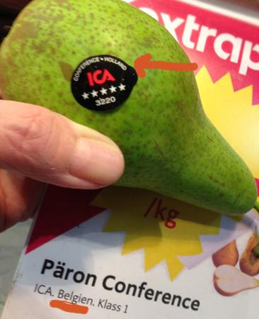 Holländskt eller belgiskt päron