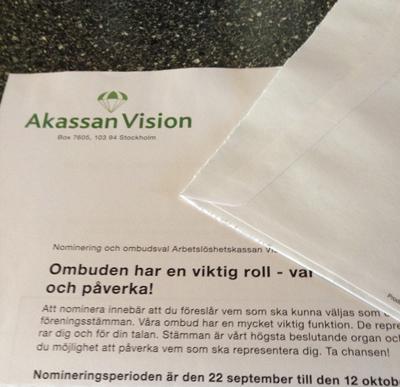Brev från A-kassan Vision