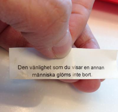 Fortune cookie om vänlighet