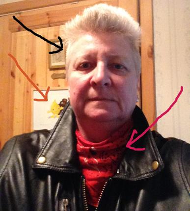 Toffla i skinnjacka o bandana