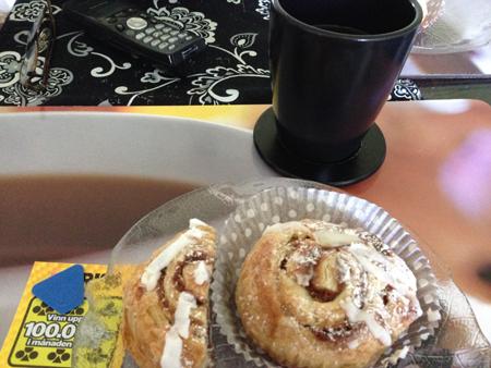 Trisslott kaffe och wienerbröd