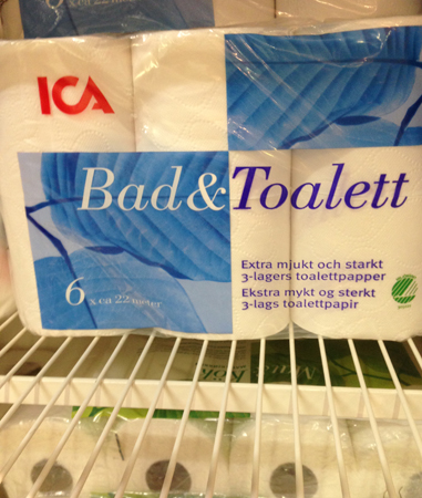 Bad & toalettpapper