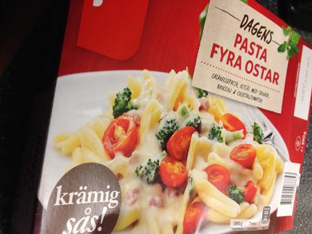 Findus pasta fyra ostar