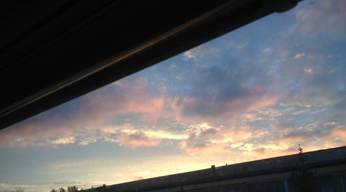 Morgonhimmel den 2 oktober 2014
