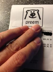 Kvitto från Preem