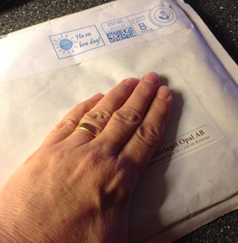 Kuvert från Opal förlag