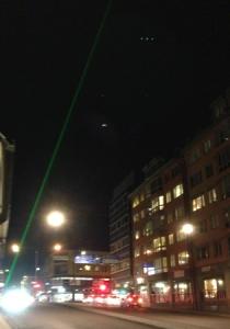 Laserstrålen från Carolina Rediviva