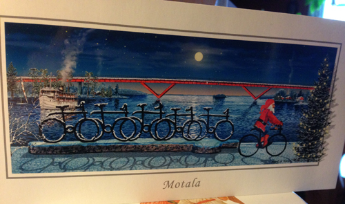 Julkort från Motalabron