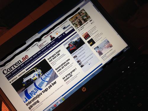 Tidningsläsning på nätet