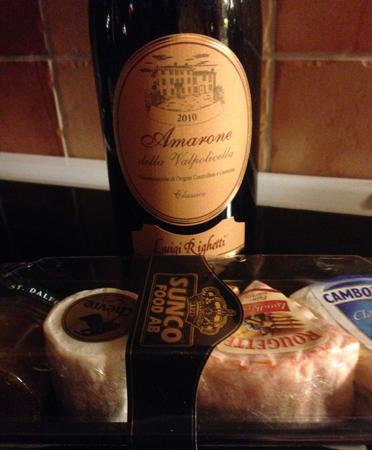 Amarone goda ostar och marmelad