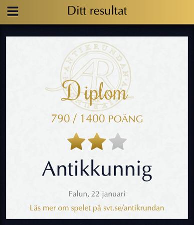 Diplom Antikkunnig Falun