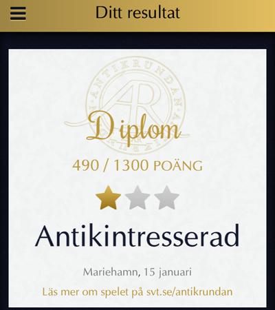 Diplom Antikrundan Åland