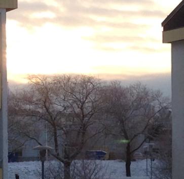 Himmel januarimorgon 2015