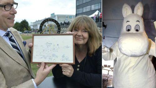 Antikrundan från Åland med mumintroll