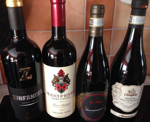 Fyra röda viner