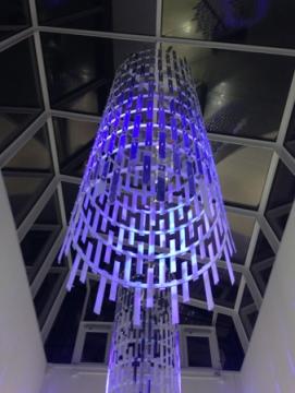 Lampa på Gränby centrum