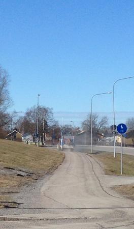 Sopning av gång- o cykelväg