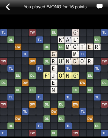 Fjong i Wordfeud