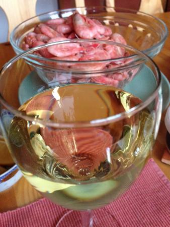 Räkor och vitt vin