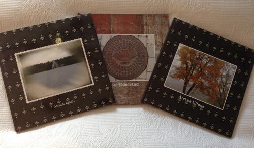 Tre fotoböcker