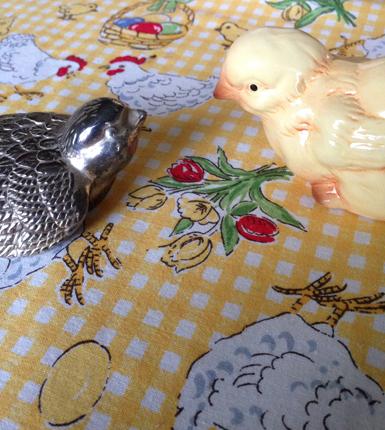 Silverfågel och kyckling