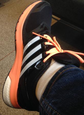 Adidassko på min fot