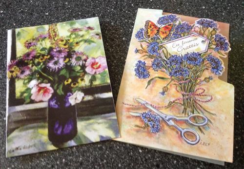 Födelsdagskort från Tant Raffa och Mia