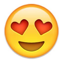 Kärleksfulla ögon emoji