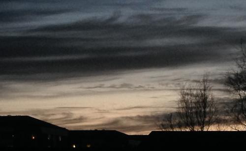 Kvällshimmel april