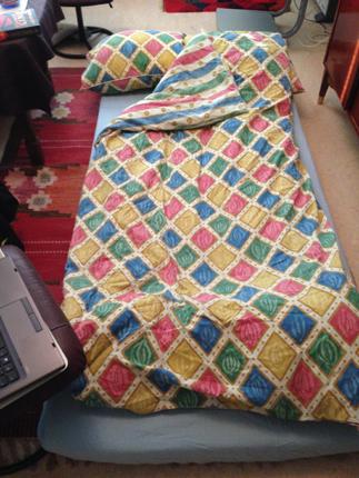 Min säng hos mamma