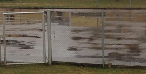 Regn på tennisbanan