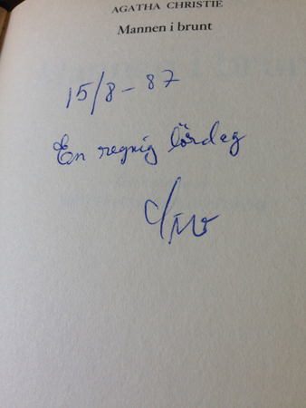 Siv har skrivit i en bok
