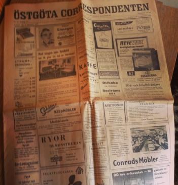 Östgöta Correspondenten från september 1958