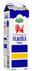 Filmjölkspaket med skruvkork