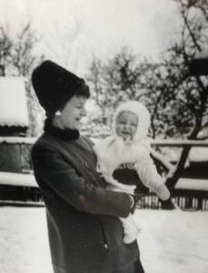 Mamma och jag vintern 62 63