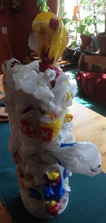 Plastpåsar i hållare