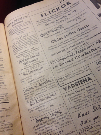 Platsannonser ÖC 1958