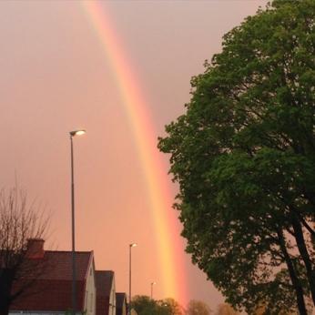 Regnbåge 13 maj 2015