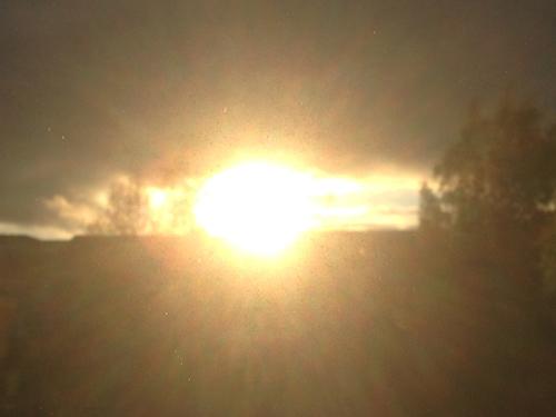 Solnedgång den 10 maj 2015