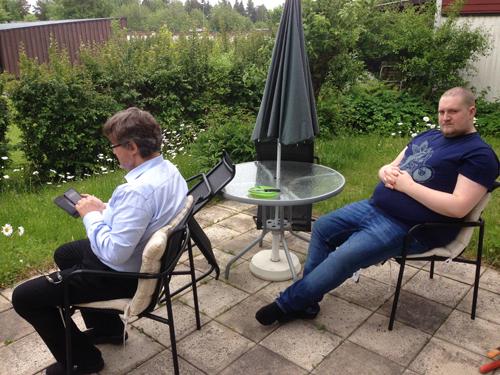 Jerry och Johan grillar