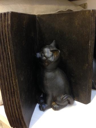 Bokstöd katt Chili 299 kr
