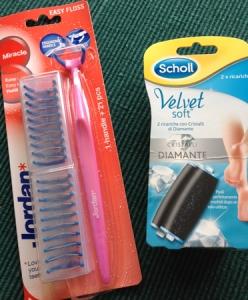 Rosa tandborste och diamantfotfilsrefill