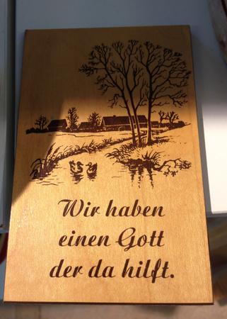 Träskylt på tyska Myrorna i Boländerna 5 kr