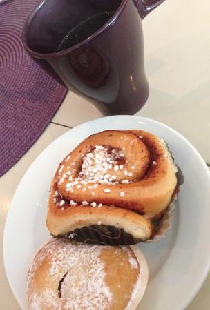 Bulle vaniljhjärta och kaffe