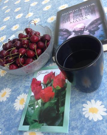 Körsbär kaffe kort bok