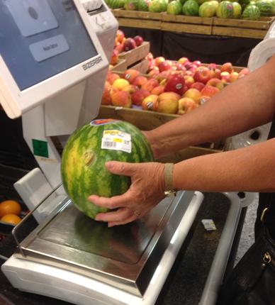 Melon väger