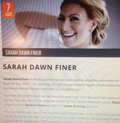 Sarah Dawn Finer på Parksnäckan