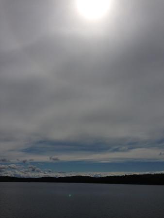 Vatten himmel och sol