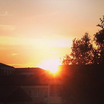 Solnedgång den 24 aug 2015